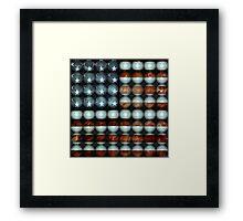 American Flag Creative Framed Print