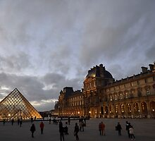 Dusk at the Louvre by BrightFogPhoto