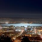 Moonlight on San Francisco Bay by BrightFogPhoto