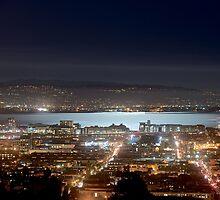 Moonlight on San Francisco Bay by BrightFogPhoto