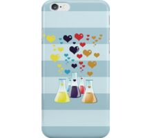 Chemistry Flask, Hearts - Red Blue Yellow Purple iPhone Case/Skin