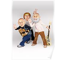 Hippie Guitar Band Poster