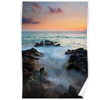 Rocky Cove Sunset Poster