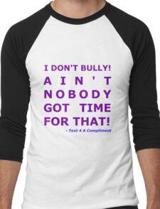 I Don't Bully! (Purple)  Men's Baseball ¾ T-Shirt