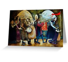 Medieval Parade 2 Greeting Card