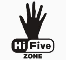 Hi Five Zone handprint T-Shirt & Stickers by Zero Dean
