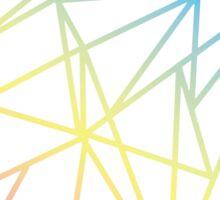 Rainbow Geometry Sticker