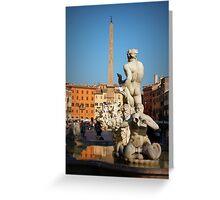 Fontana del Moro, Piazza Navona, Roma, Italia Greeting Card