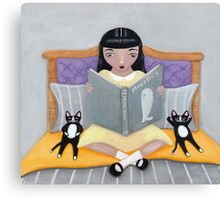 Story Time for the Kittens Canvas Print