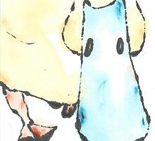 Odd duck, in blue by Labontea