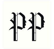 Pride & Predjudice: Darcy and Lizzy tattoo design Art Print