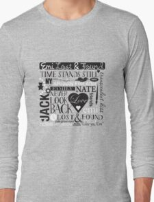 Emi Lost & Found collage Long Sleeve T-Shirt