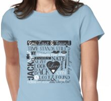 Emi Lost & Found collage Womens Fitted T-Shirt
