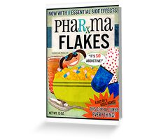 Big Pharma Flakes Breakfast Cereal Greeting Card