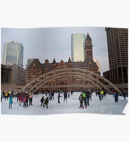 Skating At Nathan Phillips Square Poster