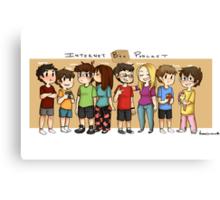 Internet Box Crew :) Canvas Print