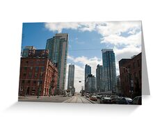 Looking Down Spadina From Wellington Greeting Card