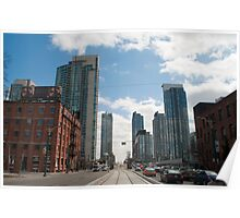 Looking Down Spadina From Wellington Poster