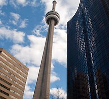 The CN Tower Tipping To The Right by Gary Chapple