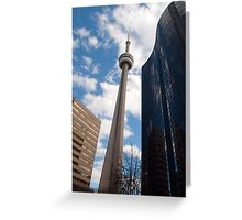 The CN Tower Tipping To The Right Greeting Card