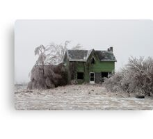 Abandoned House On Highway 10 South Of Melancthon Canvas Print