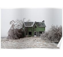 Abandoned House On Highway 10 South Of Melancthon Poster