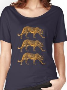 Big Cat Cool Leopards Picture Women's Relaxed Fit T-Shirt