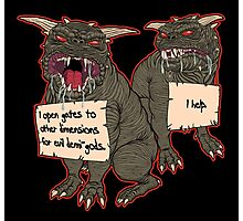 Terror Dog Shaming Photographic Print