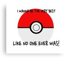 Pokemon Ball Theme Song  Canvas Print