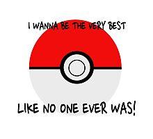 Pokemon Ball Theme Song  Photographic Print