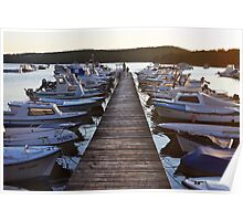 Countryside harbor Poster