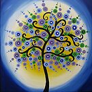 branches- colourful tree image in green, blue, yellow circles by cathyjacobs