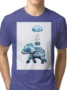 Tie Dye Elephant Tri-blend T-Shirt