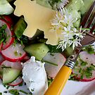 Housemade Cheese and Wild Garlic Blossom Dressing With Salad by SmoothBreeze7