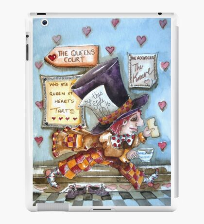 The Mad Hatter - running fom court iPad Case/Skin