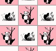 Pandas Checker - Pink by Adamzworld