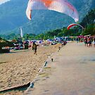 Paragliding in Turkey by Sue Gurney
