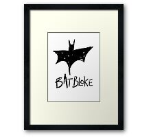 Bat Bloke Framed Print