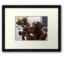 Photo Hounds Framed Print