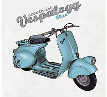 Scooterist Vespalogy (blue) by 73553
