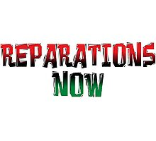 REPARATIONS NOW PRINTS, CARDS & POSTERS. Photographic Print