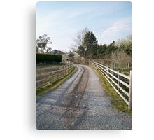 Following the gravel driveway.. Canvas Print