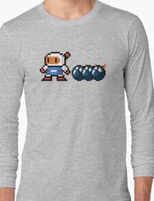 Bomberman pixel Long Sleeve T-Shirt