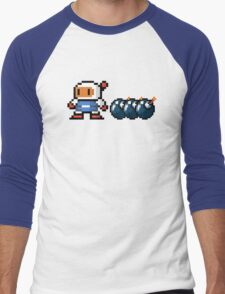 Bomberman pixel Men's Baseball ¾ T-Shirt