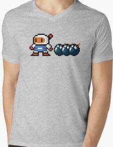 Bomberman pixel Mens V-Neck T-Shirt