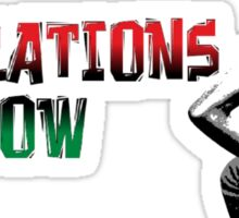 REPARATIONS NOW/ SLAVE BACK PRINTS, CARDS & POSTERS. Sticker