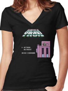 Title Screen Takeover 1 Women's Fitted V-Neck T-Shirt