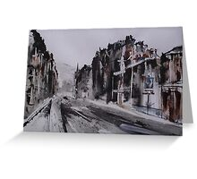 Morningside Road, Winter Greeting Card