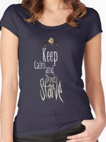 Keep calm and dont starve! Women's Fitted Scoop T-Shirt