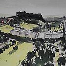 Edinburgh Castle and Princes Street by Ross Macintyre